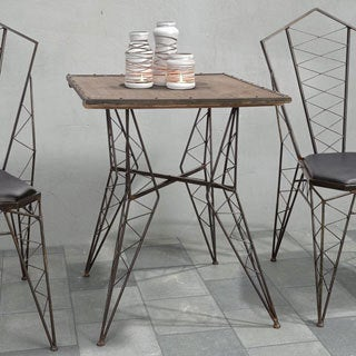 Zuo Pure Heavy Metal Bistro Table