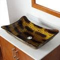 ELITE 107E Modern Design Tempered Glass Bathroom Vessel Sink