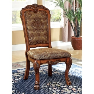 Furniture of America Elantia Antique Oak Side Dining Chairs (Set of 2)
