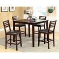 Furniture of America Amazi 5-Piece Counter Height Dining Set, Espresso