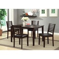 Furniture of America Amazi 5-piece Leatherette Chair Dining Set
