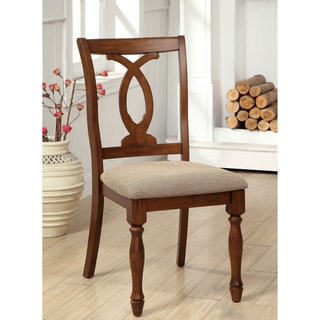 Furniture of America Rookster Dark Oak Dining Chairs (Set of 2)