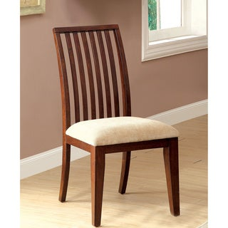 Furniture of America Morottia Brown Cherry Dining Chairs (Set of 2)