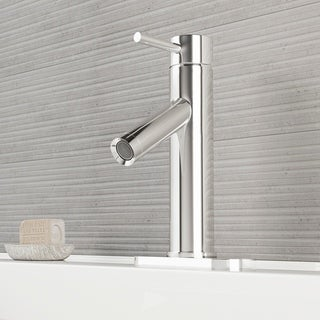 Vigo Single-lever Chrome Faucet with Deck Plate