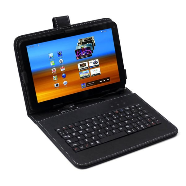 SVP Dual Core Dual Camera HDMI Android 4.2 9-inch 8GB Capacitive Touch Screen Tablet with Keycase