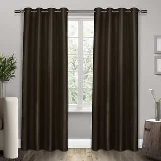 Shantung Thermal Insulated Grommet Top 84 inch Curtain Panel Pair