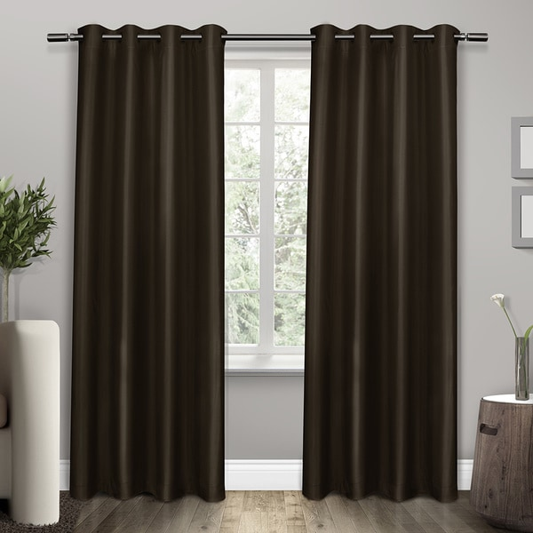 ATI Home Shantung Thermal Insulated Grommet Top Curtain 84 - 96-inch Length Panel Pair