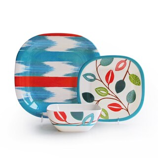 'Whisked Away' Beach Motif 12-piece Dinnerware Set