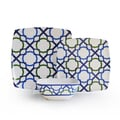 'Luna' Blue/ Green Geometric Print 12-piece Dinnerware Set