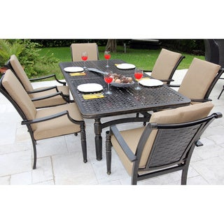 Bromley Woven Cast 7-piece Dining Set