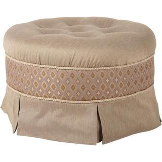 Biltmore Golden Taupe Round Upholstered Ottoman