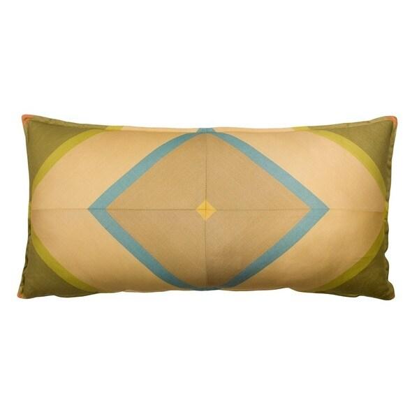 Tuscan Garden Mitered Stripe Throw Pillow