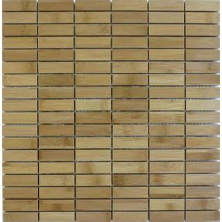 Harvest Bamboo Mosaics Light Columbian Roast Stacked Tile