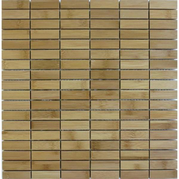Blonde bamboo skinny stacked wood wall tile 16126018 Bamboo backsplash