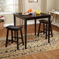Belfast Black 3-piece Saddle Dining Set