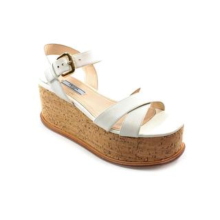 Prada Women's '1XZ287' Leather Sandals (Size 8 )