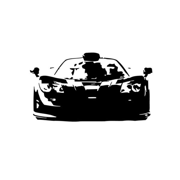 'McLaren F1 GTR' Graphic Vinyl Wall Decal