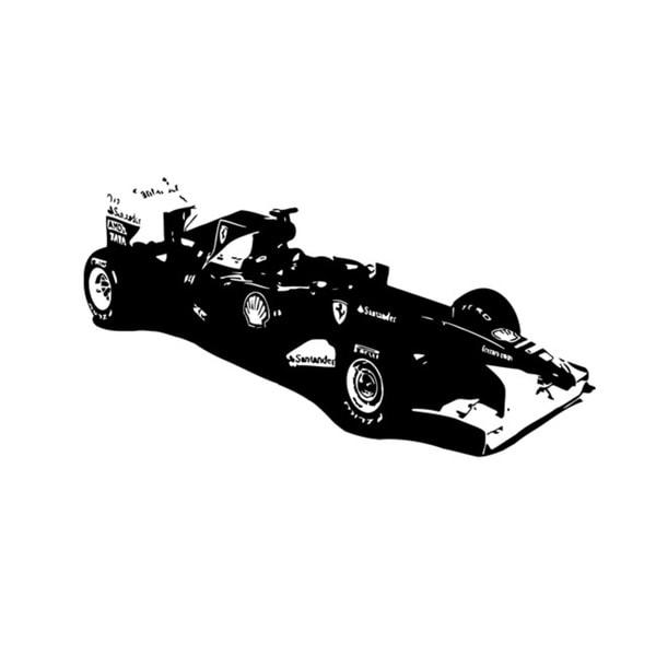 Black Classic F1 Scuderia Ferrari Vinyl Wall Decal