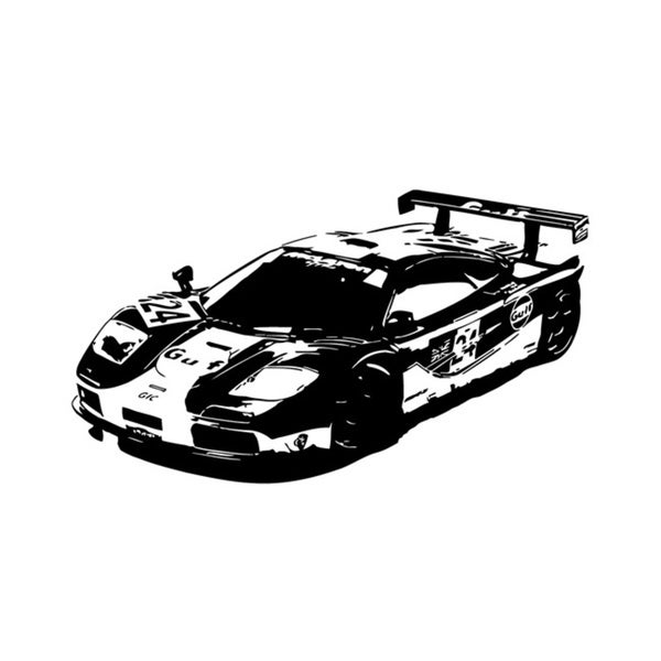 McLaren Speeding Car Vinyl Wall Decal