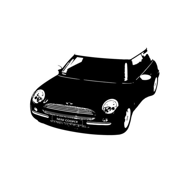 Mini Cooper Front View Vinyl Decal