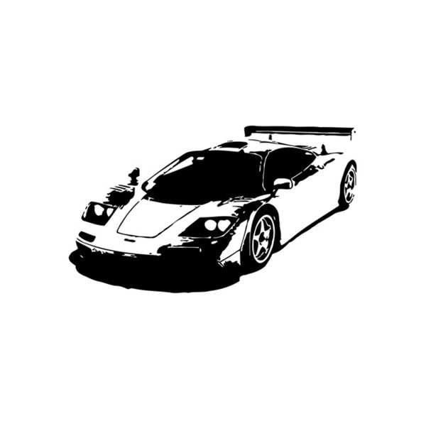 Race Car Black Vinyl Decal