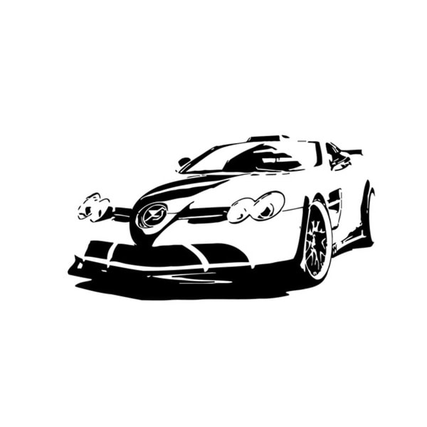 Mclaren Black Race Car Front View Vinyl Decal