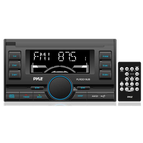 Pyle Bluetooth AM/FM Radio Remote Control Digital Receiver with USB Ports