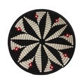 Hand-woven 12-inch Black/ Red Bold and Beautiful Basket (Rwanda)