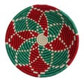 Hand-woven Red/ Green Holiday Delight Basket (Rwanda)