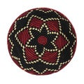Hand-woven Red/ Black Triple Star Basket (Rwanda)