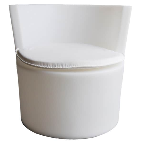 White PU Leather Modern Leisure Chair