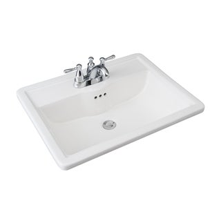 Hathaway 6594 130 Drop-in White Porcelain Bathroom Sink