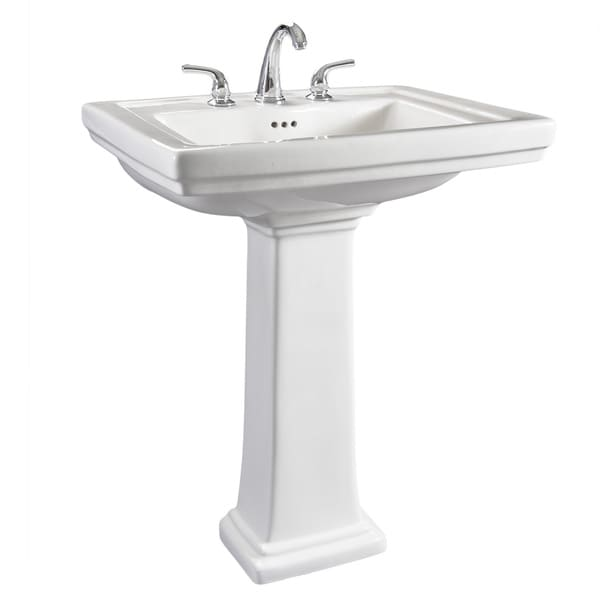 Hathaway 6612 130 Large White Porcelain Pedestal Bathroom Sink