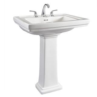 Hathaway 6612 130 Large White Porcelain Pedestal Bathroom Sink