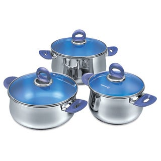 Korkmaz Mavis Satin Mirror Finish Stainless Steel 6-piece Cookware Set