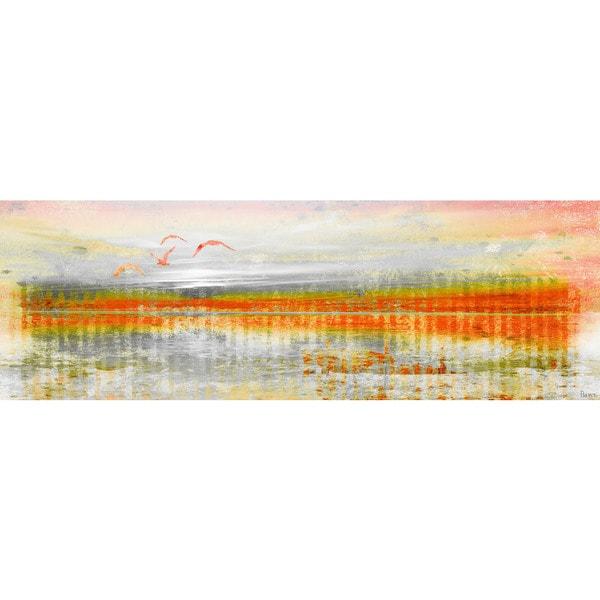 Parvez Taj 'Linear Birds' Canvas Art Print