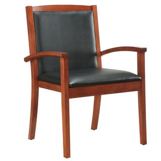 Bently Cognac Frame Upholstered Guest Chair