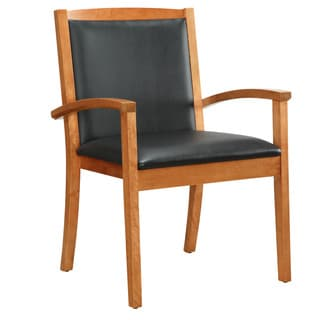 Bently Honey Maple Frame Upholstered Guest Chair
