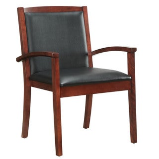 Bently Cherry Frame Upholstered Guest Chair