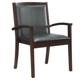 Bently Mocha Frame Upholstered Guest Chair