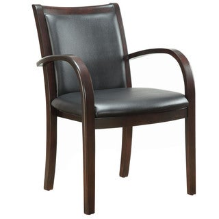 Bently Mocha Frame Upholstered Back Guest Chair
