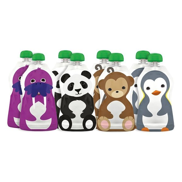 Squooshi Reusable Large Food Pouches (Pack of 8)