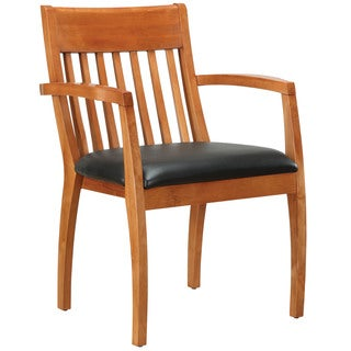 Bently Honey Maple Frame Slat Back Guest Chair