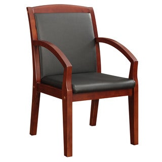 Bently Cherry Frame Slant Arm Guest Chair