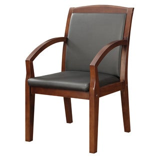 Bently Mocha Frame Slant Arm Guest Chair