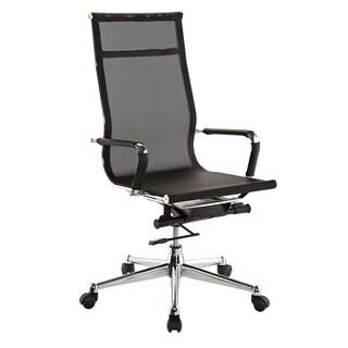 Pantera Black Nylon and Chrome High Back Desk Chair