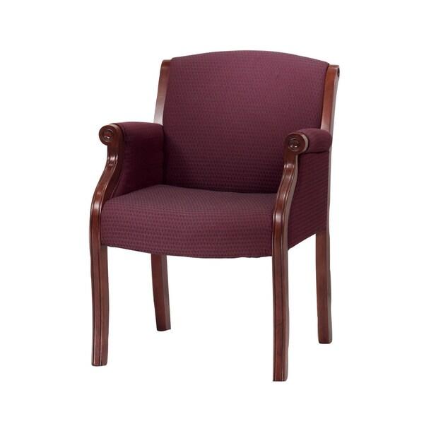 Traditional Merlot Cherry Guest Chair