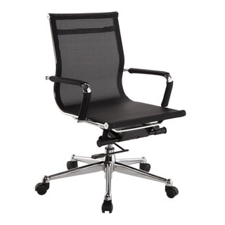 Pantera Black Nylon and Chrome Low Back Desk Chair