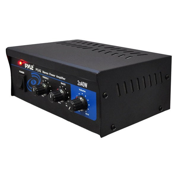 PyleHome Mini 2x40-watt Stereo Power Amplifier (Refurbished)