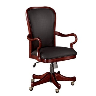 Chocolate Patina Gooseneck Arm Desk Chair